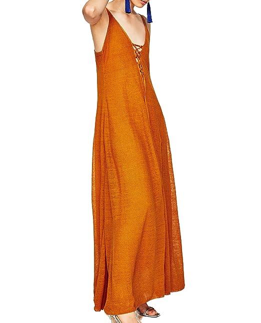 Zara - Vestido - para mujer Arancione Small