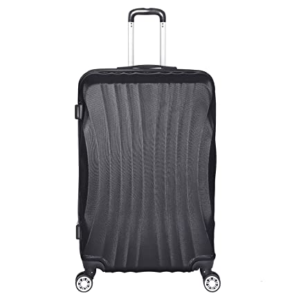 1a4074064 Elightry 1213 ABS Hard Shell Luggage Case Suitcase Superlight Travel Case  with 360 Rotating Wheels Volume Expandable(Black/M): Amazon.co.uk: Luggage