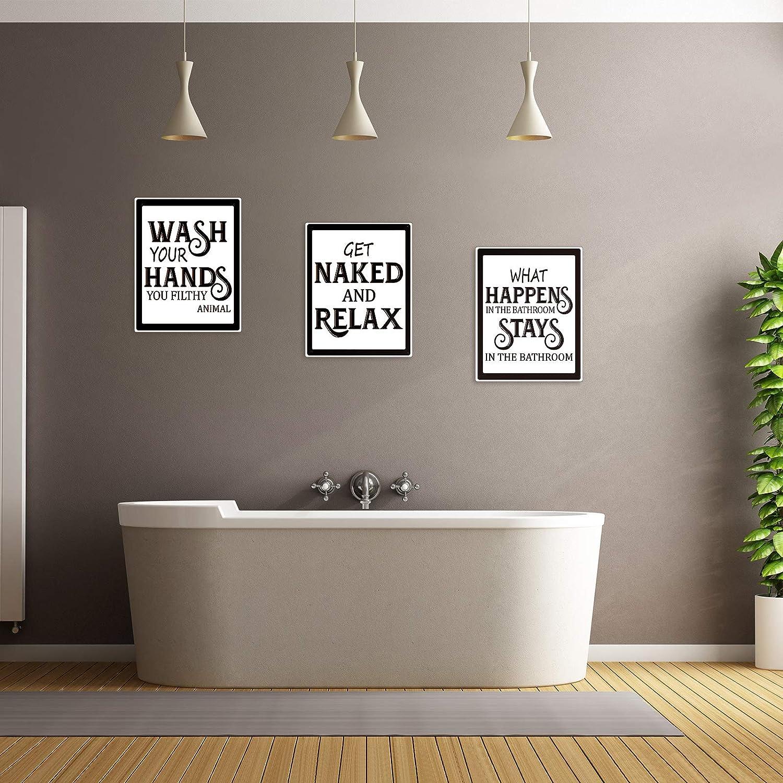 Ungerahmt Lustig Vintage Badezimmer Zeichen Bad Zitate Sprüche ...