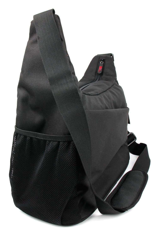 プレミアム品質スリング' Shoulder Bag inブラック&オレンジ – For the KitSoundハイブ2ワイヤレスBluetoothスピーカー – by DURAGADGET   B01LXKDA81