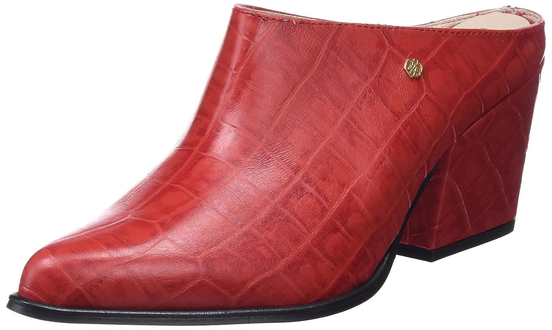 CUPLE Tachas Rojo, Zuecos Para Mujer
