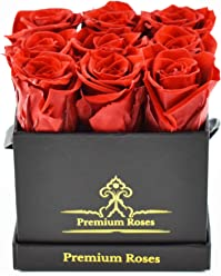 Premium Roses| Real Roses That Can Last up to A Year (Roses in The Box, Best Gift for Her, Anniversaries, Birthdays & Valentines Day)