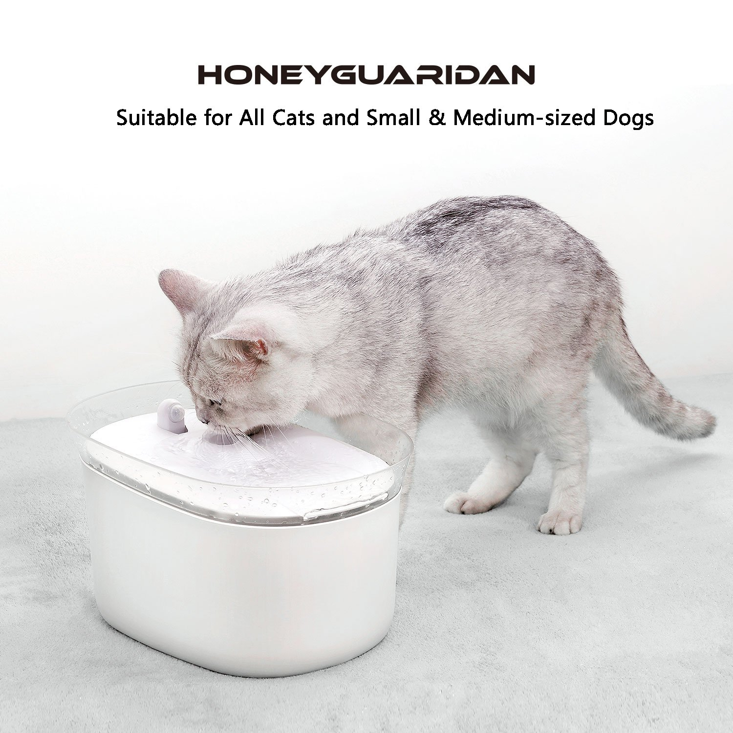 HoneyGuaridan Automatic Pet Water Fountain for Dogs and Cats