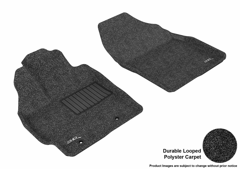 Tan L1TY09212202 3D MAXpider Front Row Custom Fit Floor Mat for Select Toyota Prius//Prius V Models Classic Carpet