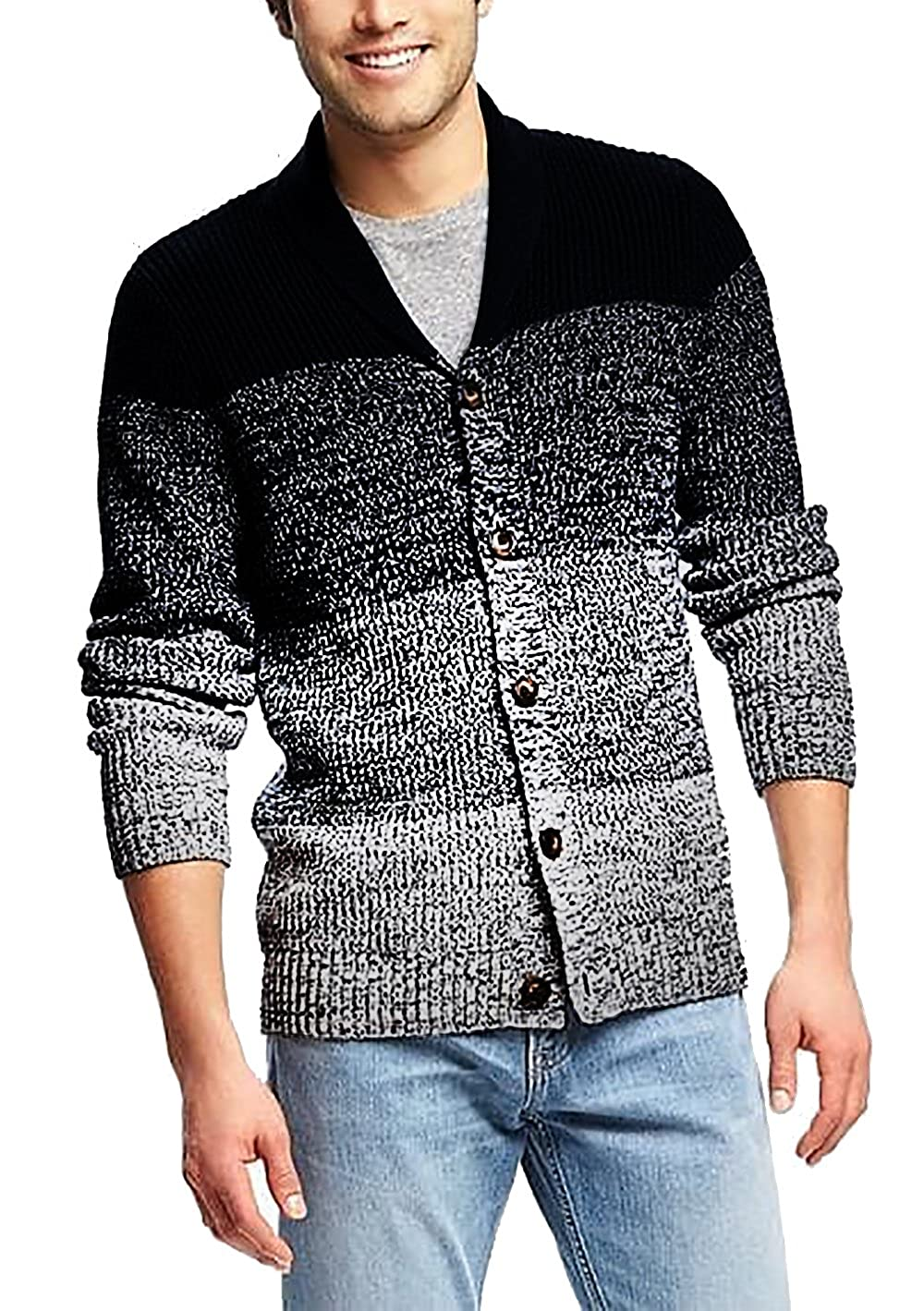 90afee6976a5 COOFANDY Men s Shawl Collar Cardigan Sweater Slim Fit Button Down Cardigan  Casual Knitwear Jacket at Amazon Men s Clothing store