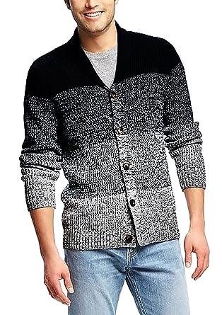ae4983c2d4cf Coofandy Men s Stylish Design Shawl Collar Cardigan Sweater Black Small