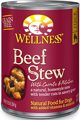 Wellness Thick Chunky Natural Wet Grain Free Canned Dog Food