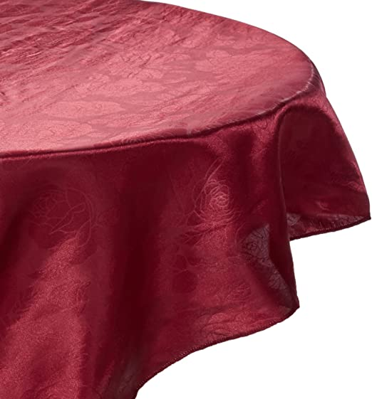 Royal Blue LinenTablecloth Round Rose Embossed Satin Tablecloth 108-Inch