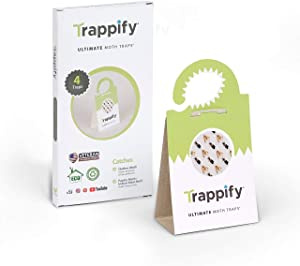 Trappify Universal Moth Traps with Pheromones: Adhesive Pantry Moth Trap for Clothes, Closet, Indian Meal, Wheat, and Other Common Moths - Home, Kitchen, and Clothing Pheromone Moth Killer (4)