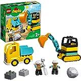 LEGO® DUPLO® İnşaat Kamyonu ve Paletli Kazıcı 10931 2 Yaş ve Üzeri Çocuklar için Kazıcı ve Damperli Kamyonlu İnşaat…