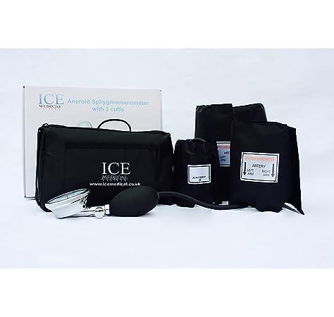 ICE Medical - Tensiómetro aneroide (3 manguitos): Amazon.es: Salud y cuidado personal