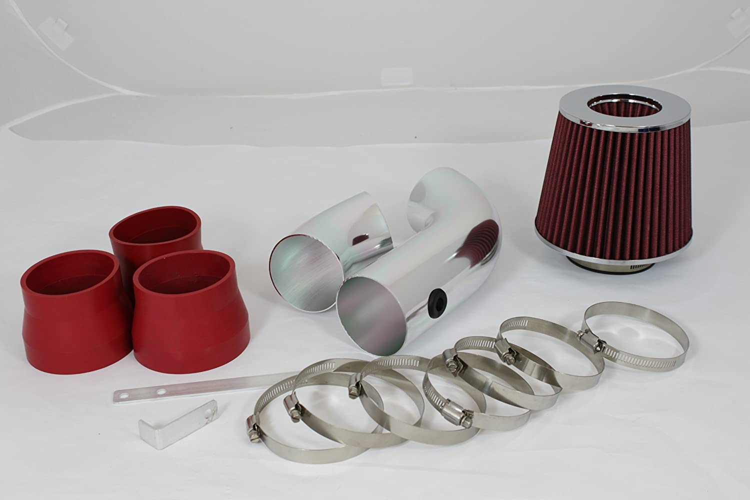 RAM AIR INTAKE KIT+RED FILTER FOR GMC 96-99 C//K1500 Sierra Yukon 5.0L 5.7L V8