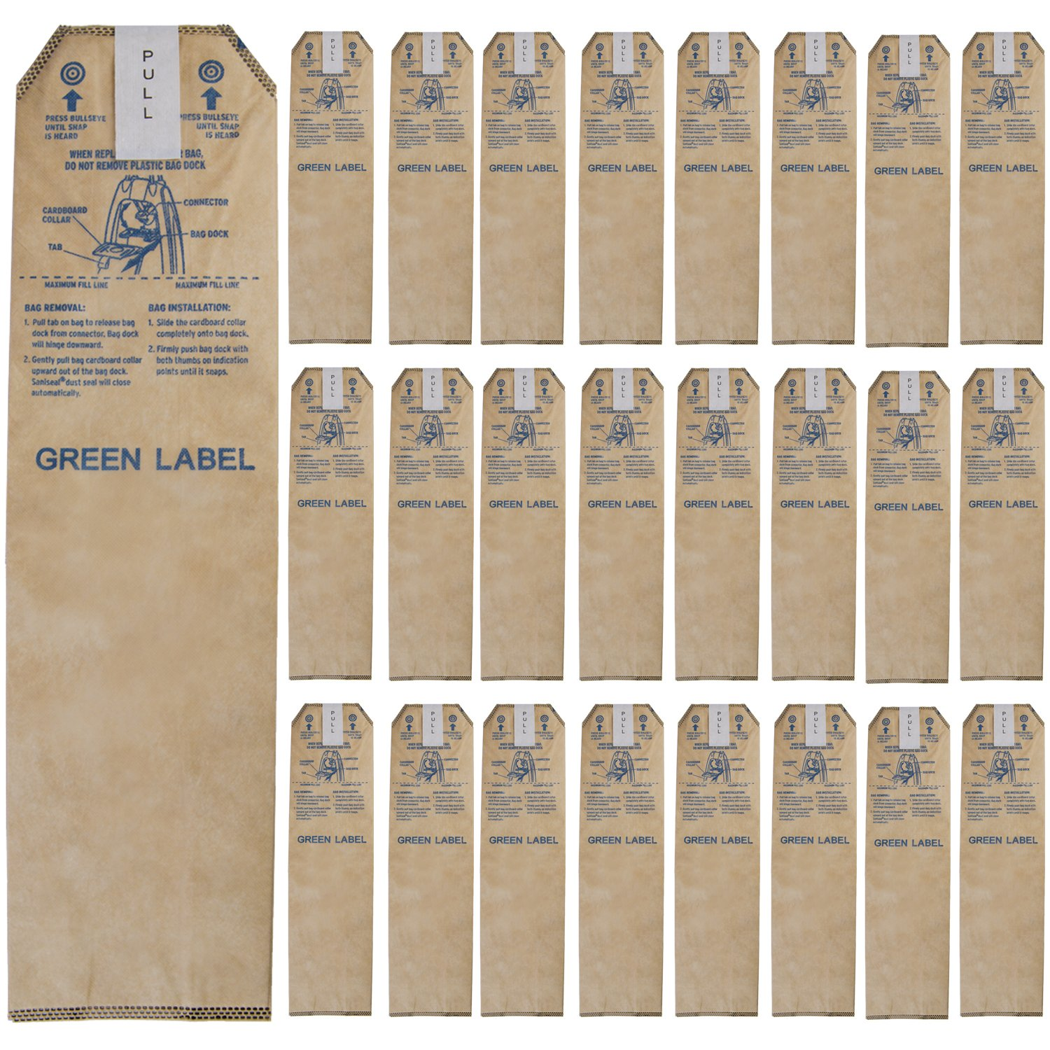 Green Label 25 Pack for Oreck Magnesium HEPA Odor Fighting Upright Vacuum Cleaner Bags. (Compares to: LWPK25OH, LWPK6OH, LWPK3OH)