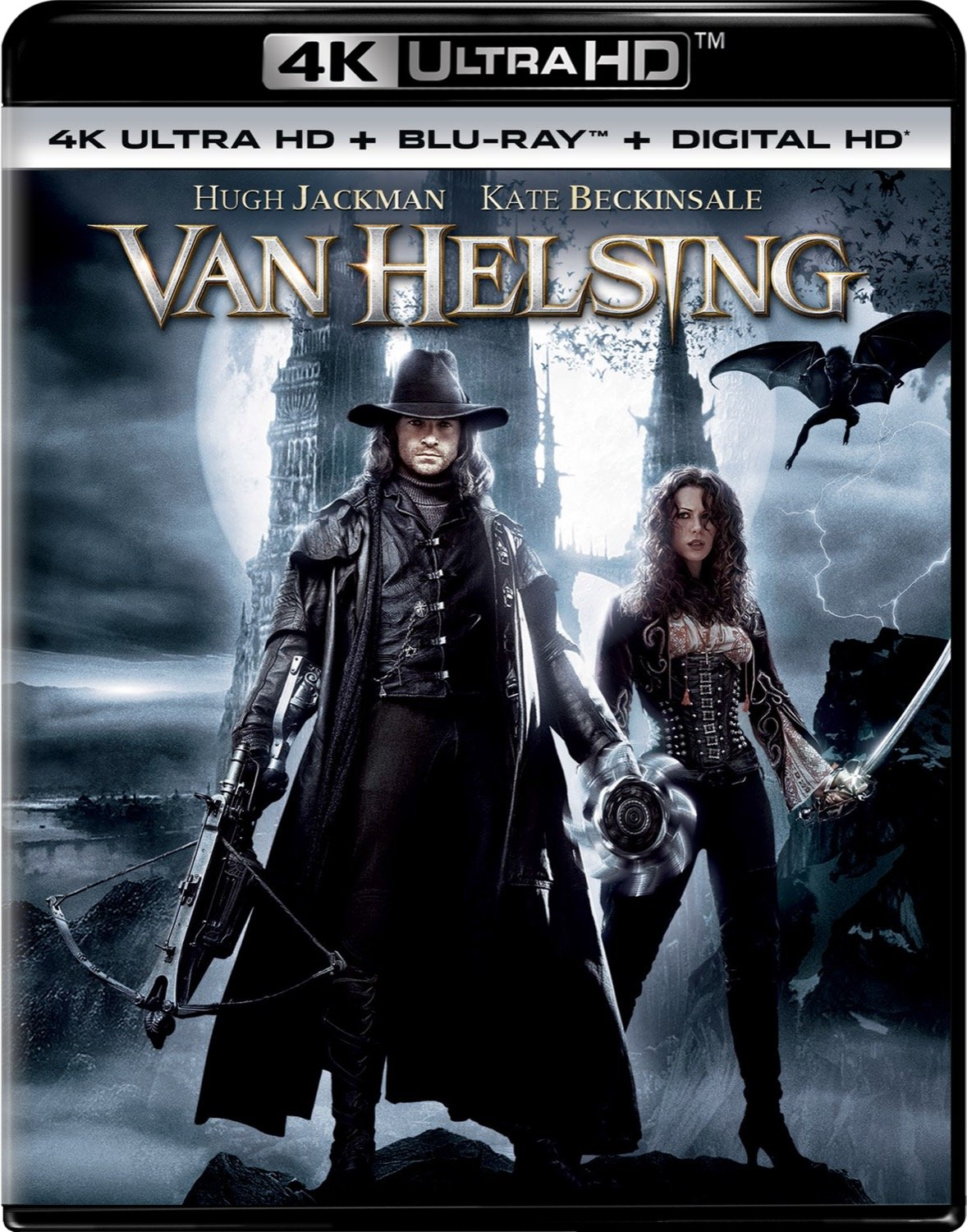 4K Blu-ray : Van Helsing (With Blu-Ray, Ultraviolet Digital Copy, 4K Mastering, Digitally Mastered in HD, 2 Pack)