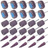 "Sackorange 30 PCS Abrasive Flap Wheel Sander,80 Grit 1/8"" Shank Diameter Cone Shape Abrasive Sandpaper Flap Sanding…"
