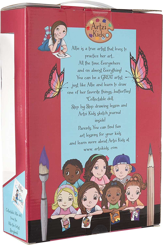 Allie The Artist Plush Doll and Art Lesson Gift Box