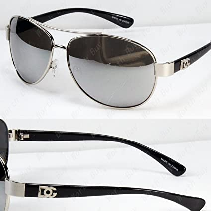 bad3a08263 Image Unavailable. Image not available for. Color  New DG Eyewear Aviator  Fashion Designer Sunglasses Shades Mens Women Black Mirrored Lens