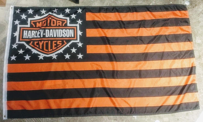 Amazon.com: Bandera de Harley Davidson, 3 x 5 pies: Jardín y ...