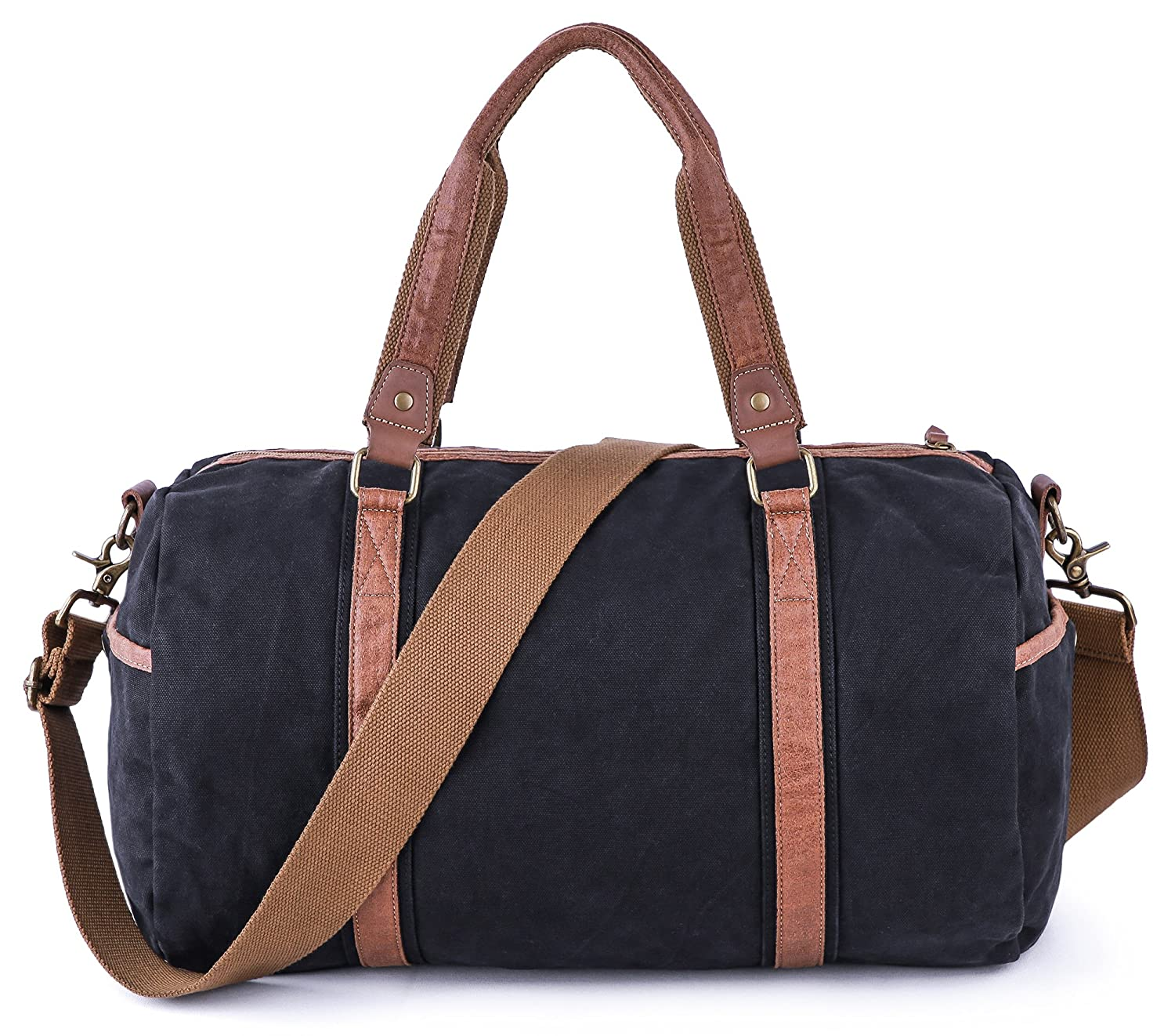 a78e13988ab Amazon.com   Gootium Duffle Bag - Canvas Travel Duffel Weekender Shoulder  Bags Gym Tote   Travel Duffels