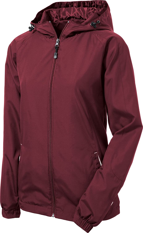 33b9c8c0d Sport-Tek Women's Colorblock Hooded Raglan Jacket at Amazon Women's Coats  Shop