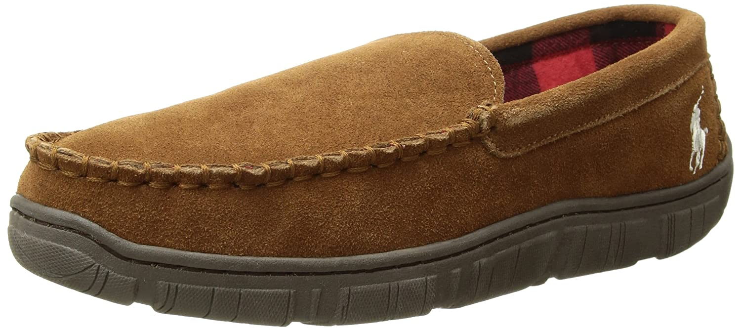 9c0d369d Ralph Lauren Polo Men's MoccASIN Slippers with Memory Foam, Charlie  Venetian with Premium Suede, size 8 to 13