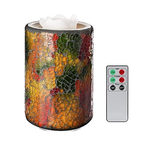 COOSA Fuente de la vela iluminada Multicolor Mosaico Cristal ...