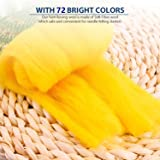 Fuyit Wool Roving 72 Colors Needle Felting Wool