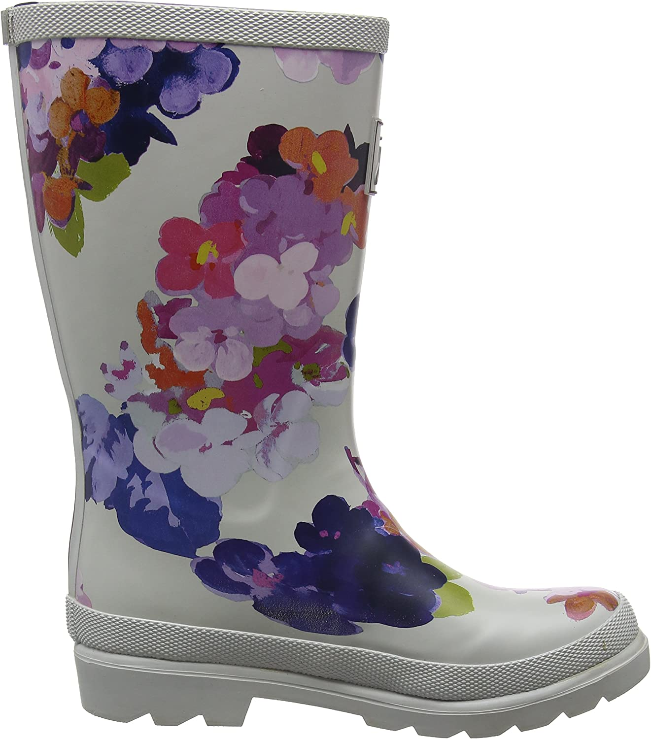 Joules Kids Girls Printed Welly Rain Boot Toddler//Little Kid//Big Kid Grey Painted Floral 13 Little Kid M