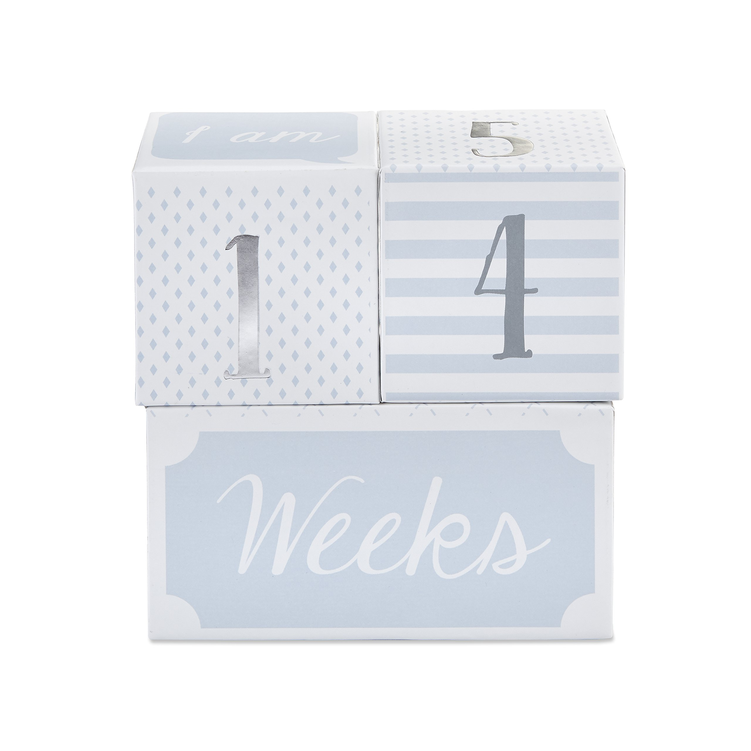 Baby Aspen My First Milestone Prince Age Blocks, Baby Picture Props for Photo Sharing The First Year, Nursery Decor