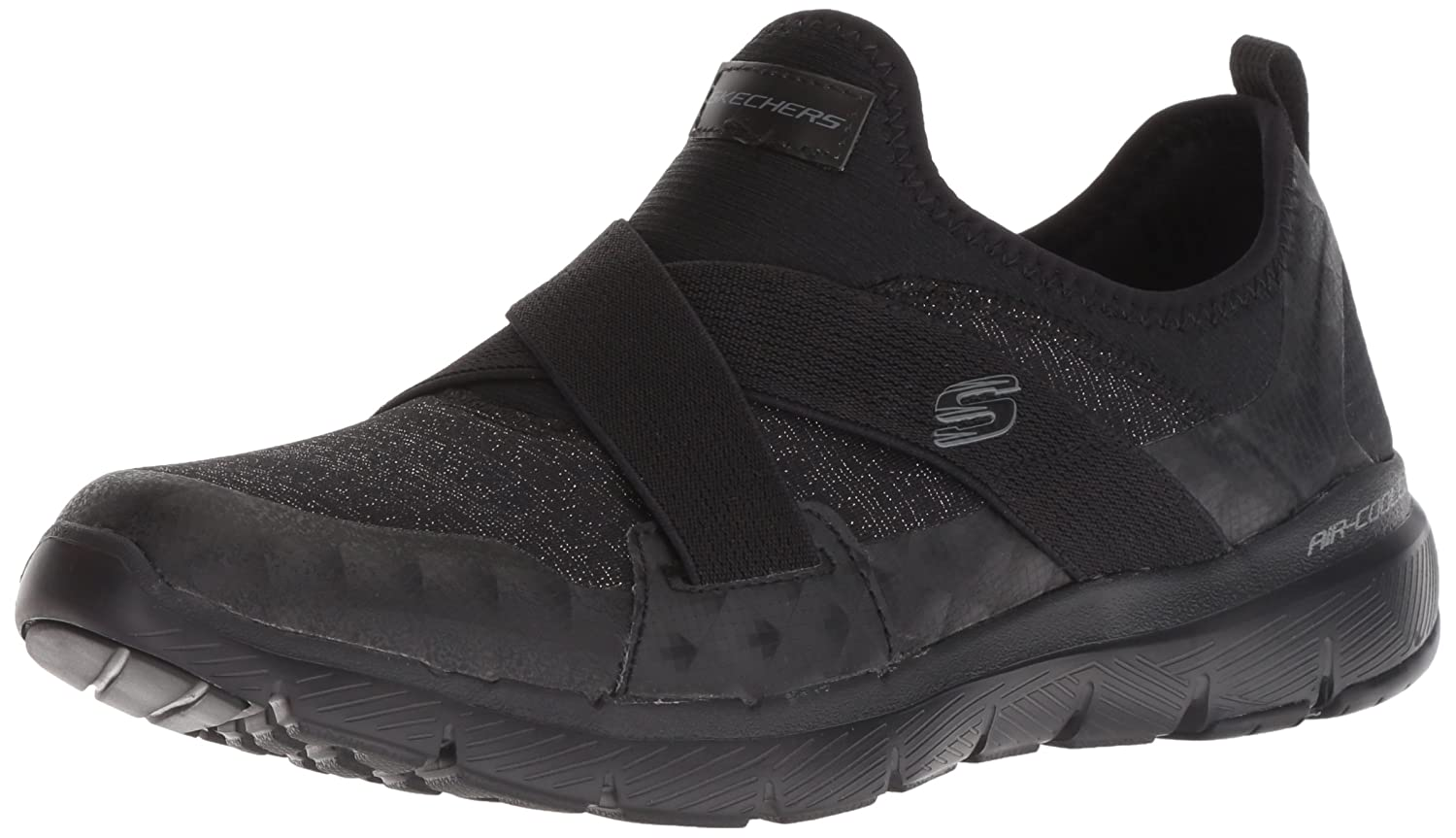 Skechers Women's Flex Appeal 3.0-Finest Hour Sneaker B07B14CPQ5 8.5 M US|Black/Black