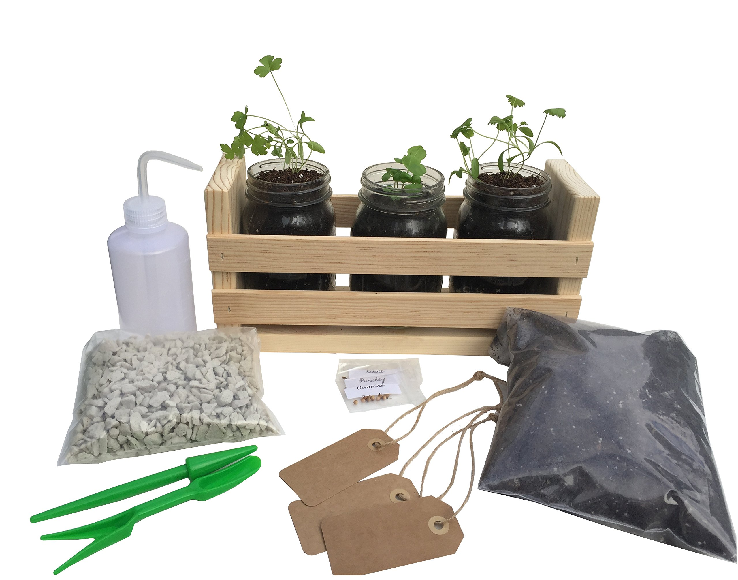 Indoor Herb Garden Premium Kit -Great for Growing an Indoor Herb Garden, Simple Kit Includes Everything You Need to Plant and Grow Delicious Culinary Herbs Today!