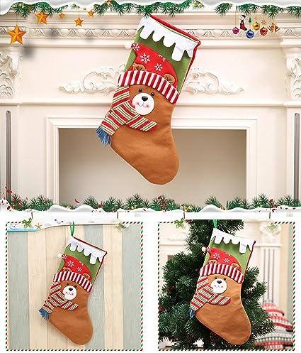 cozzy gran medias calcetines de Navidad muñeco de nieve Santa Claus oso bolsa de regalo para