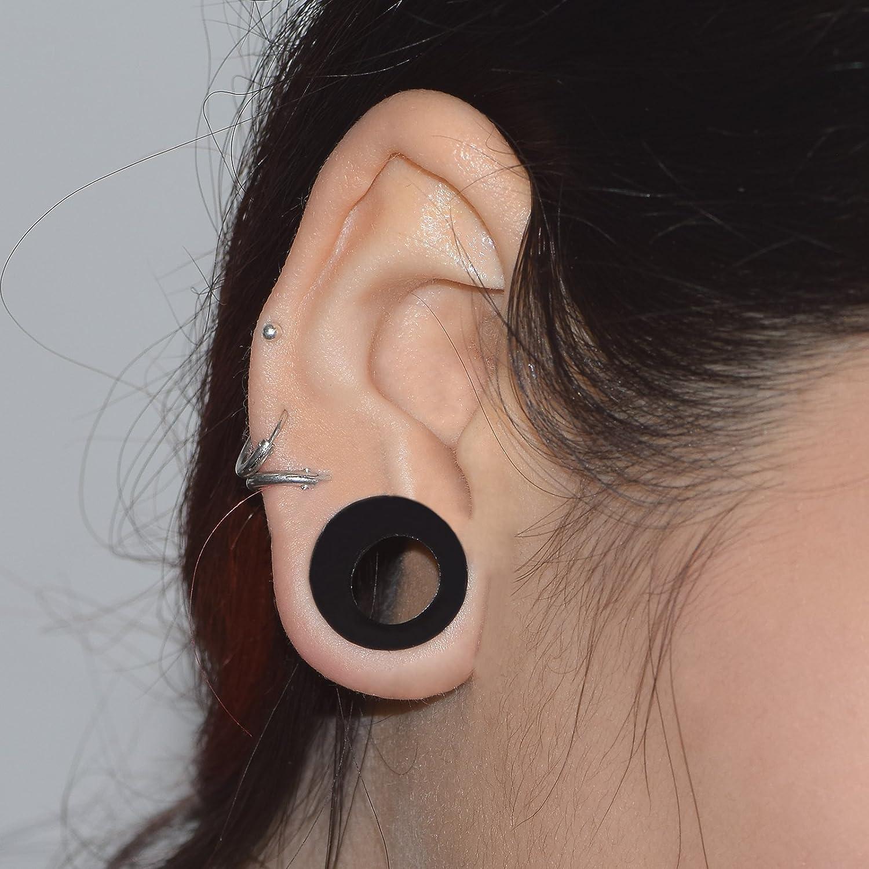 D&M Jewelry 32 Piezas Conjunto de Dilatador de Silicona Negra Piercing Calibre 00g: Amazon.es: Joyería