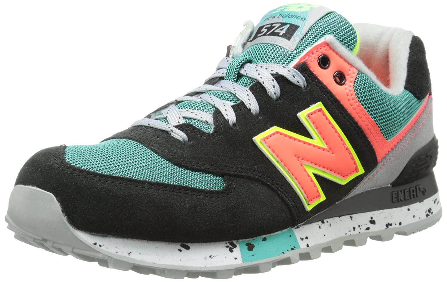 new balance 574 women orange trainers