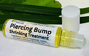 Urban ReLeaf Piercing Bump Shrinking Treatment ! Gentle, Effective Aftercare. Easy Roller-Ball Applicator. 100% Natural with Essential Oils. Help Scars, Nodules, Cartilage, Nose, Ear Spots