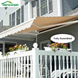 Amazon Com 15ft Sunsetter Slate Gray Motorized Awning