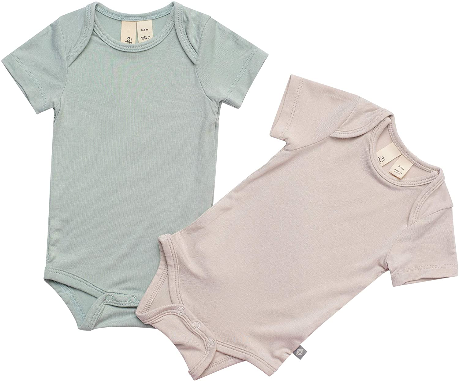 Kyte Baby Soft Organic Bamboo Rayon Short Sleeve Bodysuits Available in a Rainbow of Colours