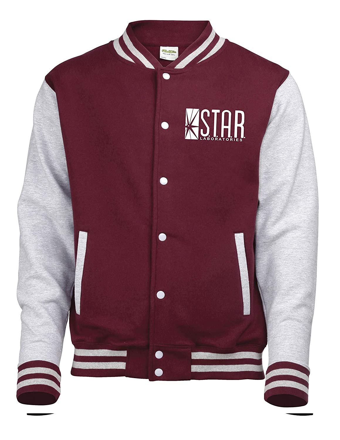 Labs Printed Varsity Jacket Snapit Today Funny Laboratories Star Top The Flash S.T.A.R