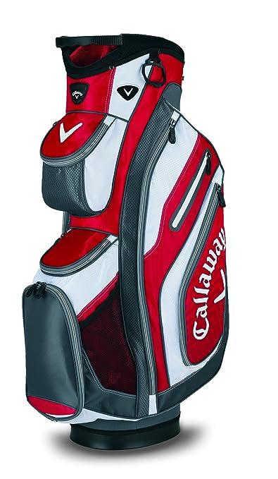 Callaway Chev Org - Bolsa de carro de golf, color Rojo/Charcoal/Blanca: Amazon.es: Deportes y aire libre