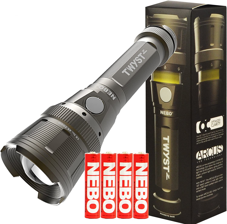 NEBO TWYST Z 360° Lantern /& Flashlight Torch Batteries Included NE6372 £10 OFF!