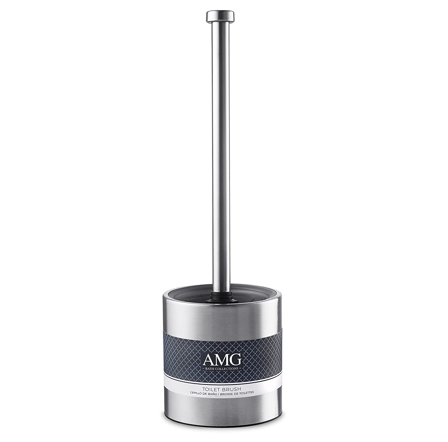 AMG and Enchante Accessories TB116A SNI Satin Nickel ILUMIZE Toilet Brush and Holder