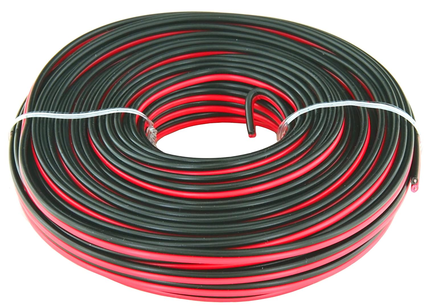 GS Power Flexible 24 AWG Pure Copper 50 ft Red /& 50 ft Black Bonded Zip Cord Cable for Car Audio Stereo LED Light 12Volt Automotive Harness Wiring American Wire Gauge Also in 100 /& 200 Feet Roll