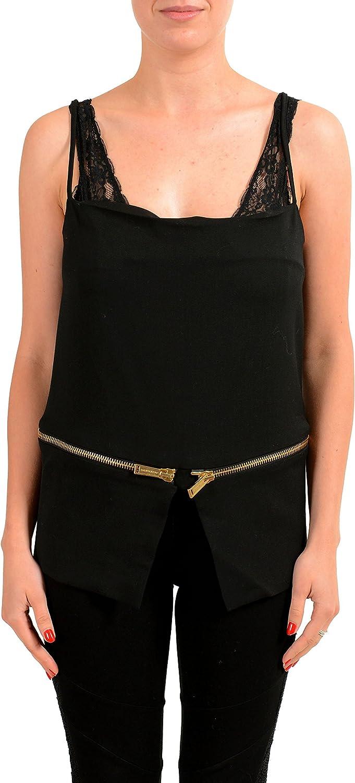 DSQUARED2 Womens Black Wool Zip Up Tank Top US XS IT 38