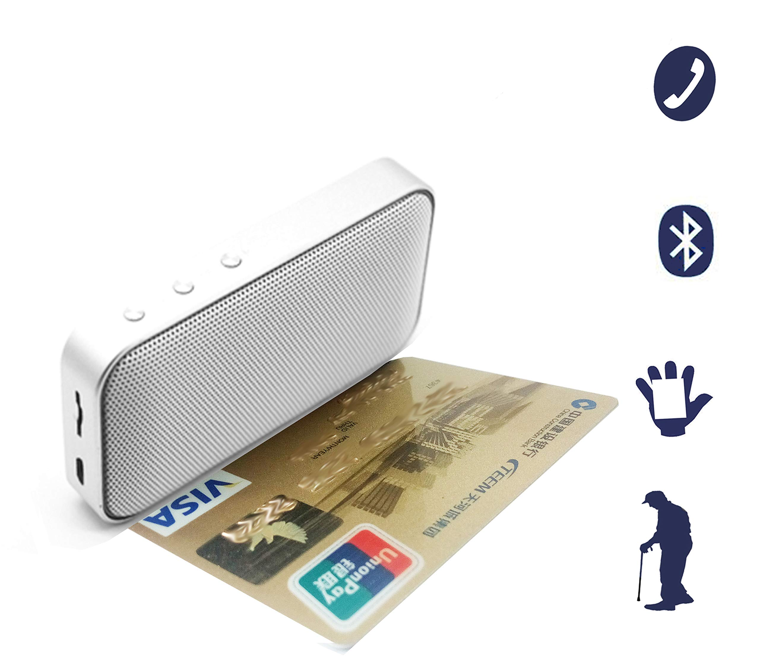 A-FUN Cell Phone Amplifier Sound and answering Calls Wearable (Pure White) by A-FUN