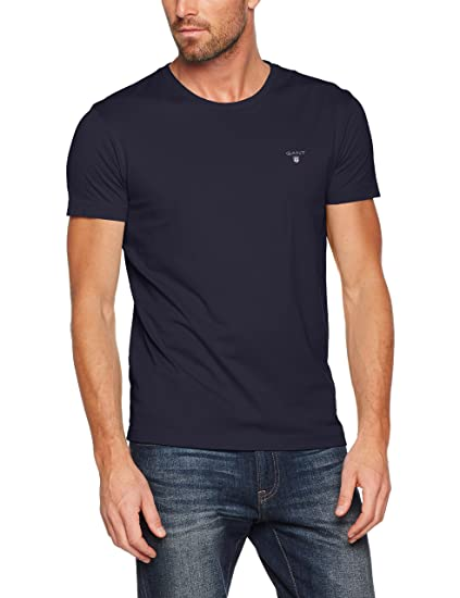 1084a5990b14 Gant Men's The Original Slim T-Shirt (Evening Blue 433), XXX-Large: Amazon. co.uk: Clothing