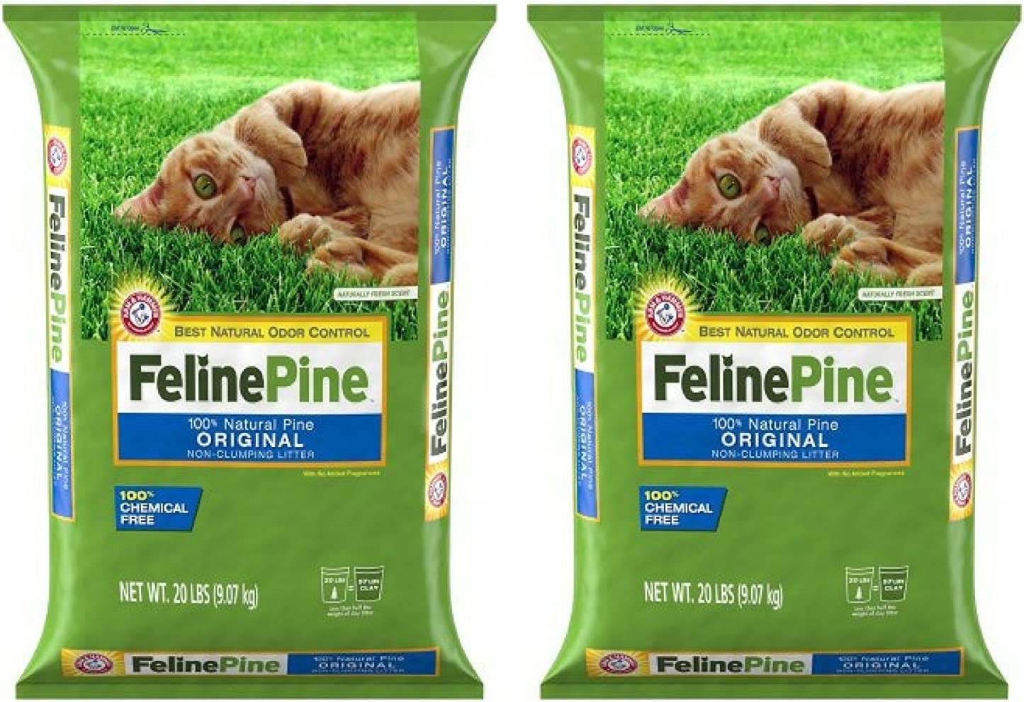"""Ames"" Feline Pine Original Cat Litter (2 Pack - 20 lbs.)"