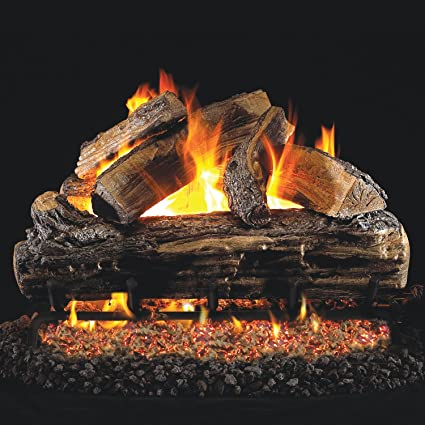 peterson real fyre 24 inch split oak gas logs only no burner - Real Fyre Gas Logs