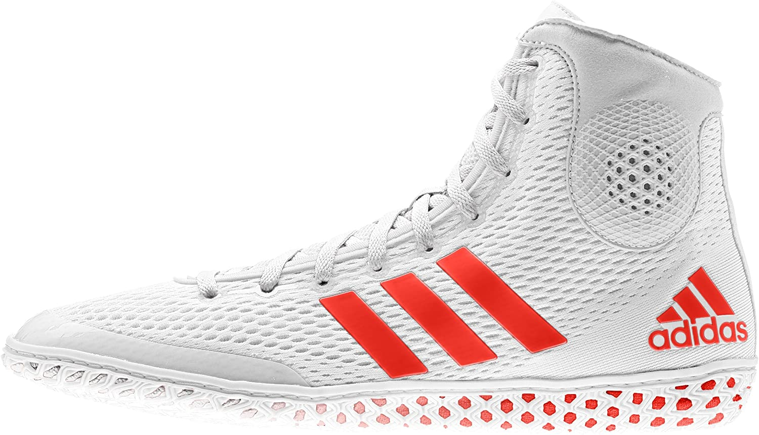 Adidas Tech Fall 16 Rio Wrestling Shoes White-Red