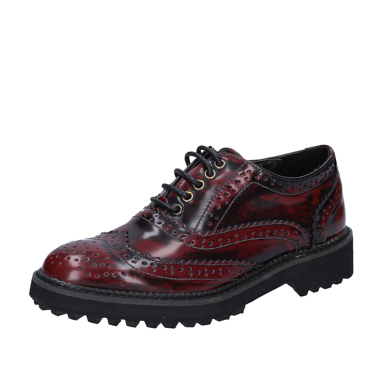 Francesco Milano Zapatos de Cordones de Piel Sintética Para Mujer Morado Rojo 36 EU