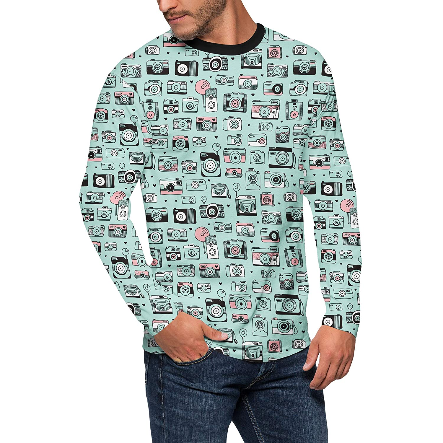 Queen of Cases Camera Obsession Mens Longsleeve Tee